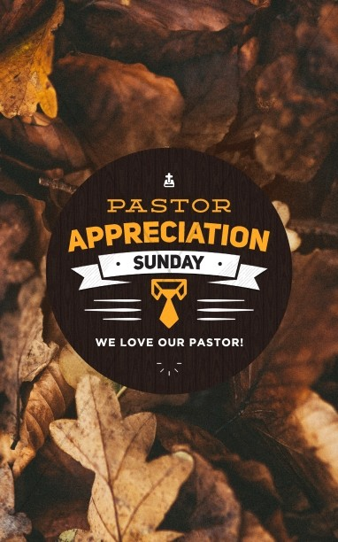 Pastor Appreciation Day Fall Bulletin