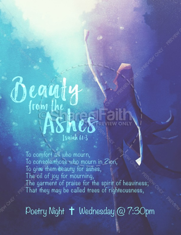 Beauty From The Ashes Church Flyer Template