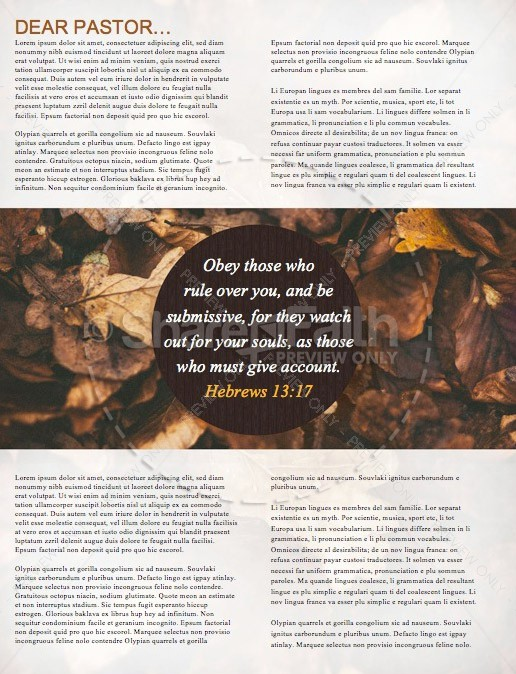 Pastor Appreciation Fall Newsletter Template