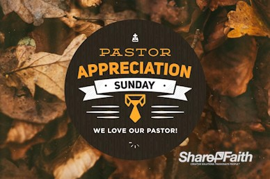 Pastor Appreciation Fall Video Loop