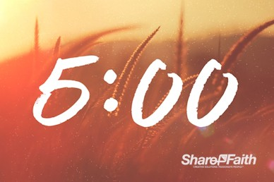 Give Thanks With A Grateful Heart Church Countdown Timer