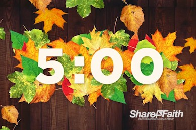 Fall Harvest Party Church Countdown Timer