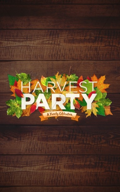 Fall Harvest Party Church Bulletin