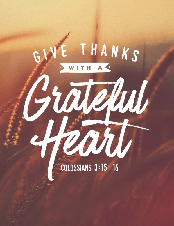 Give Thanks With A Grateful Heart Flyer Template