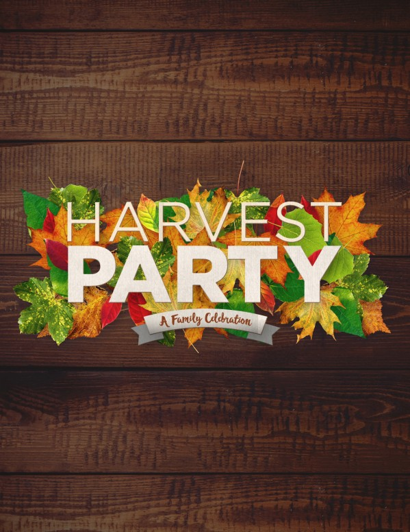 Fall Harvest Party Church Flyer