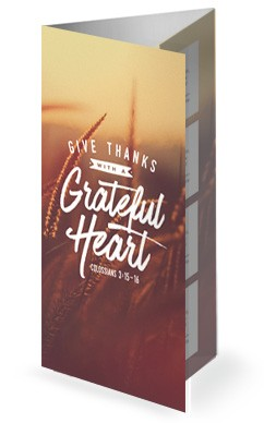 Give Thanks With A Grateful Heart Church Trifold Bulletin