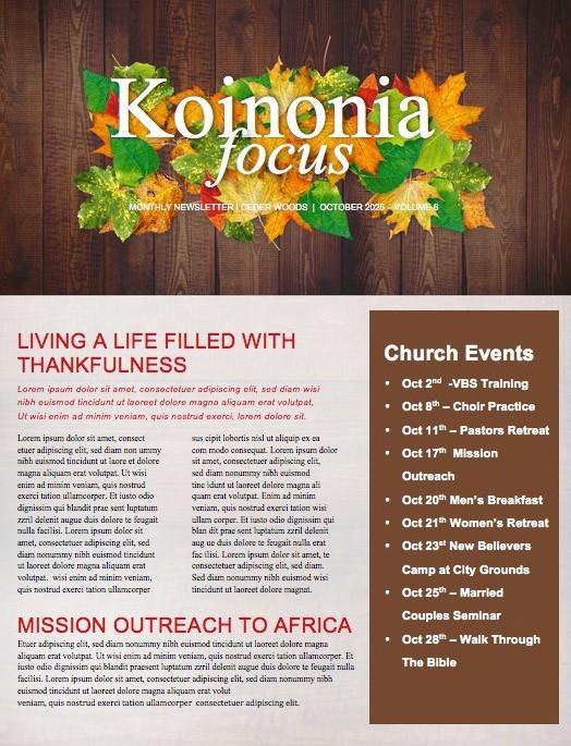 fall harvest party church newsletter template template newsletter