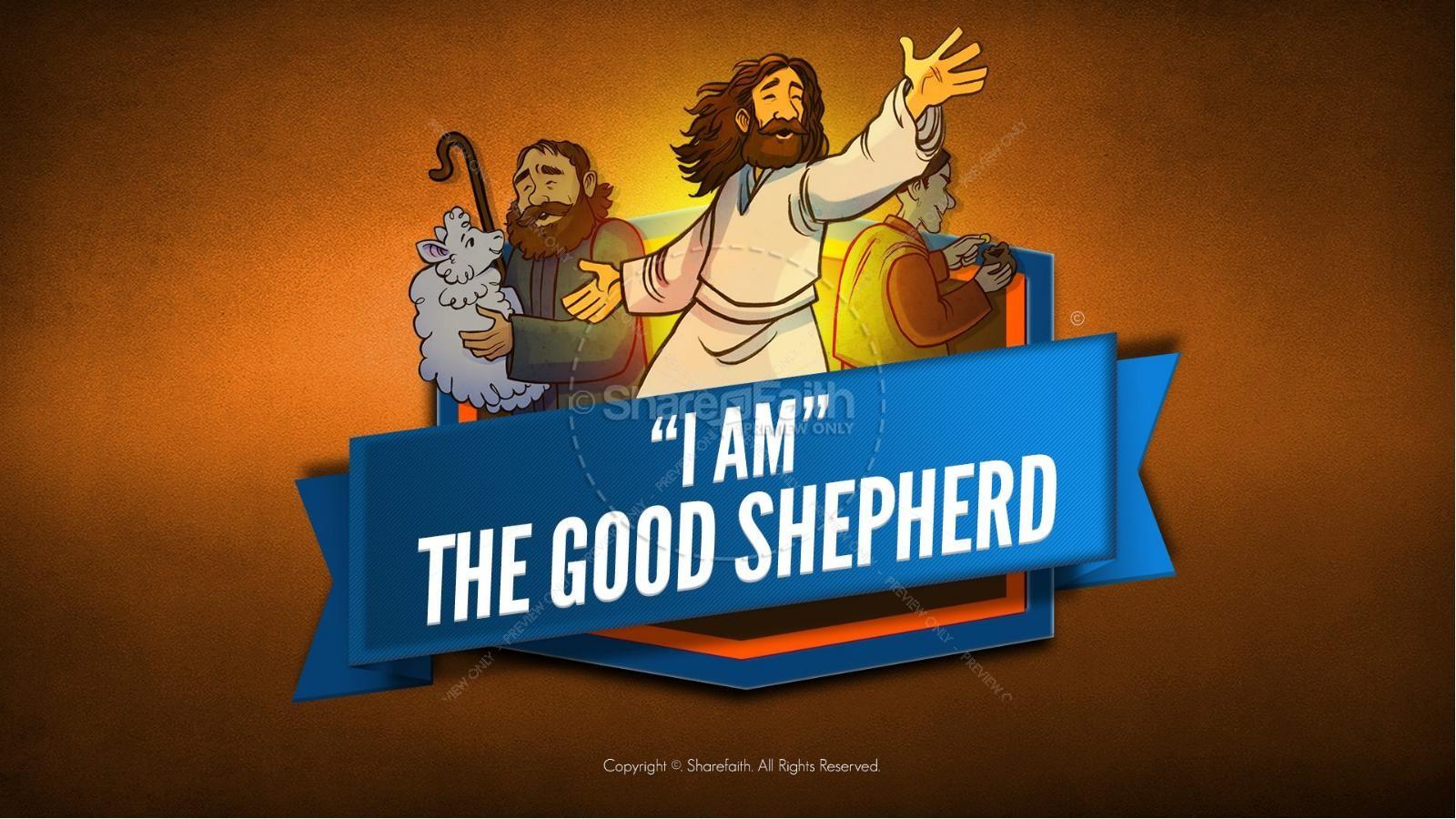John 10 The Good Shepherd Kids Bible Stories | slide 1