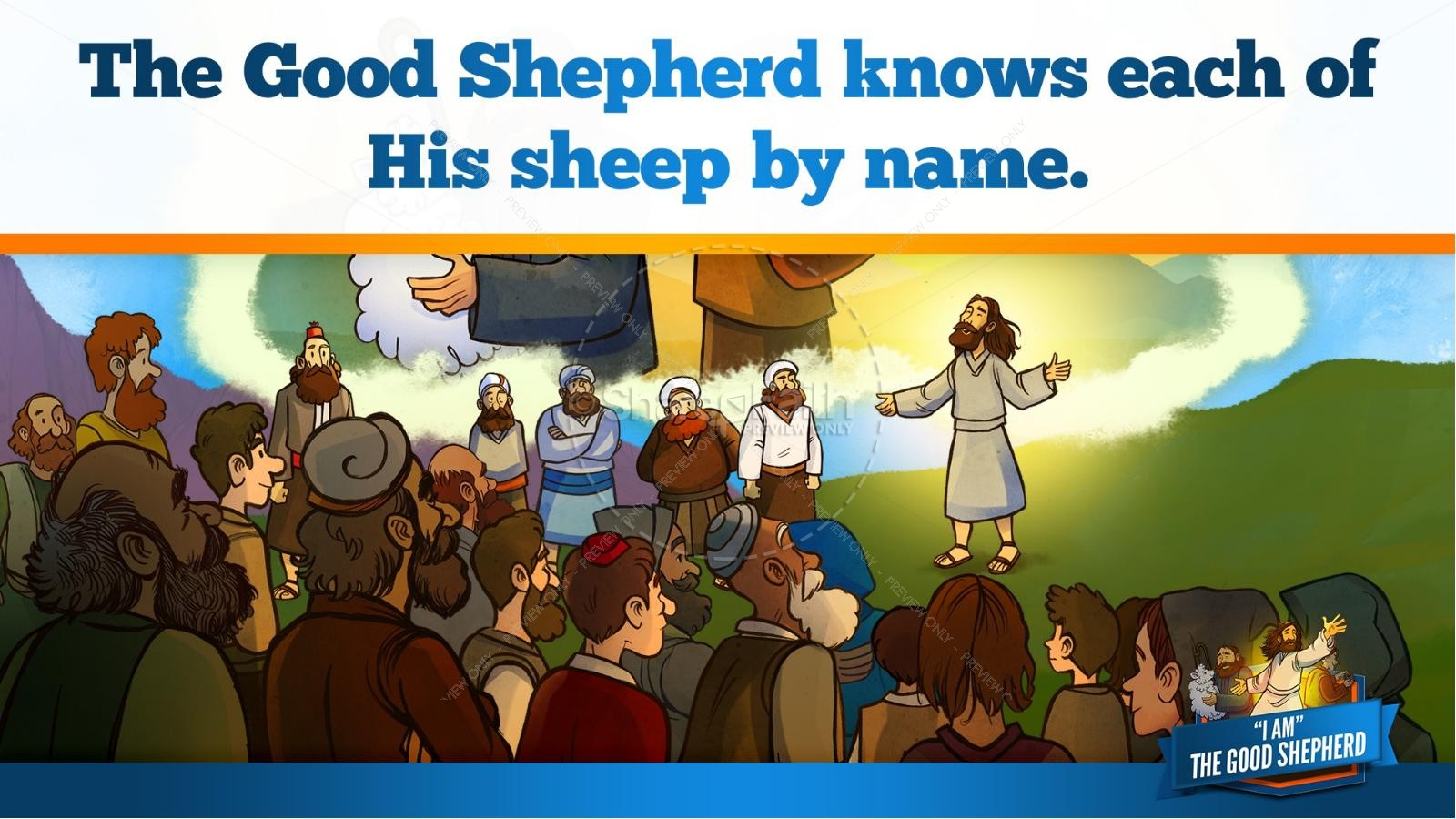 John 10 The Good Shepherd Kids Bible Stories | slide 12
