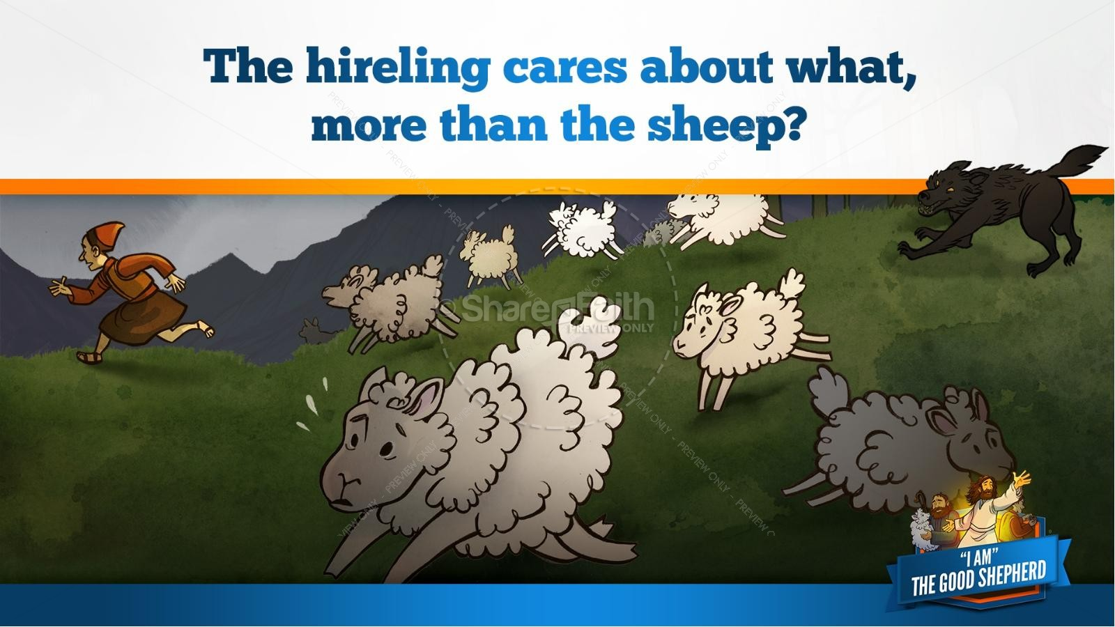 John 10 The Good Shepherd Kids Bible Stories | slide 15