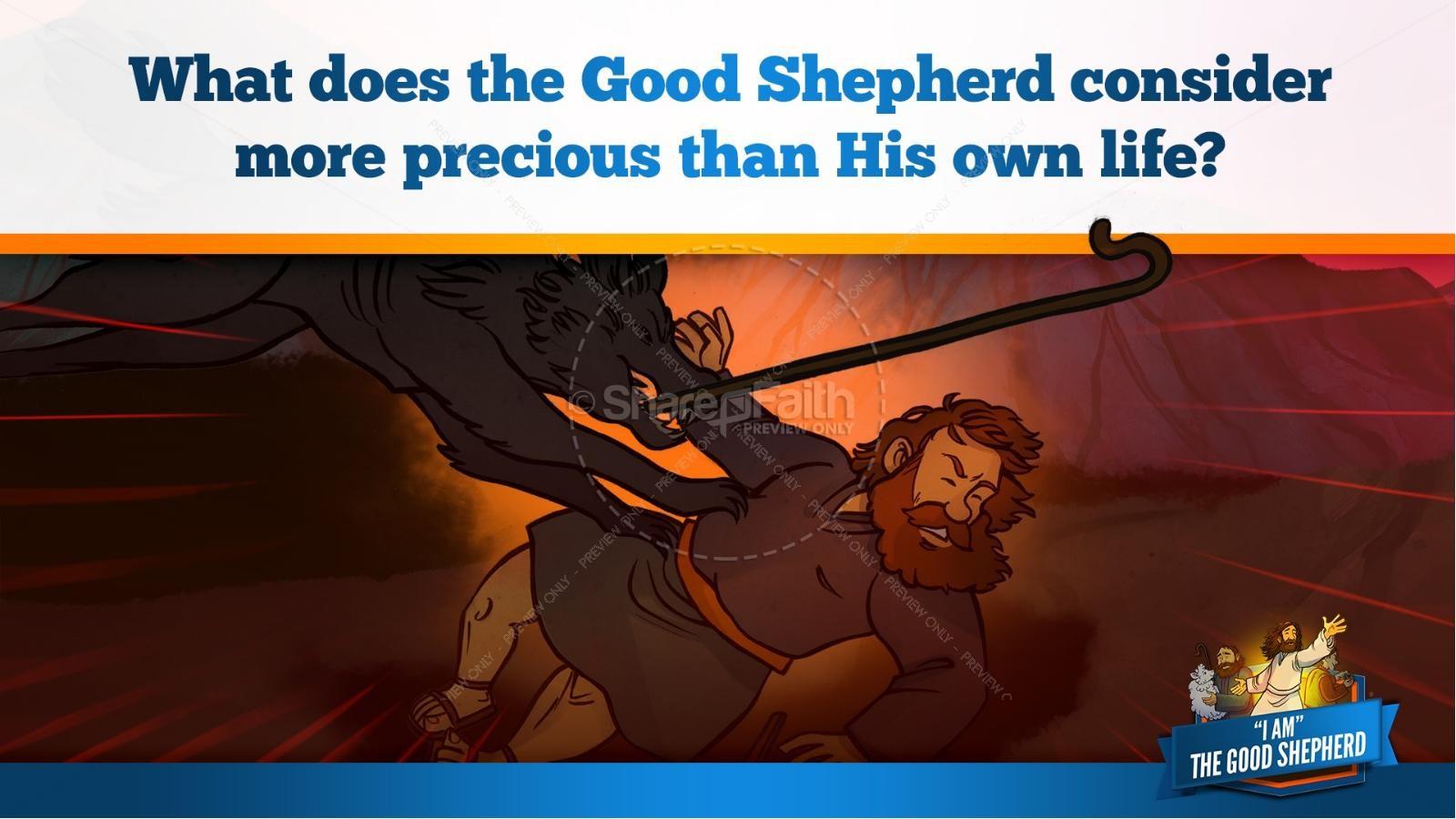 John 10 The Good Shepherd Kids Bible Stories | slide 27