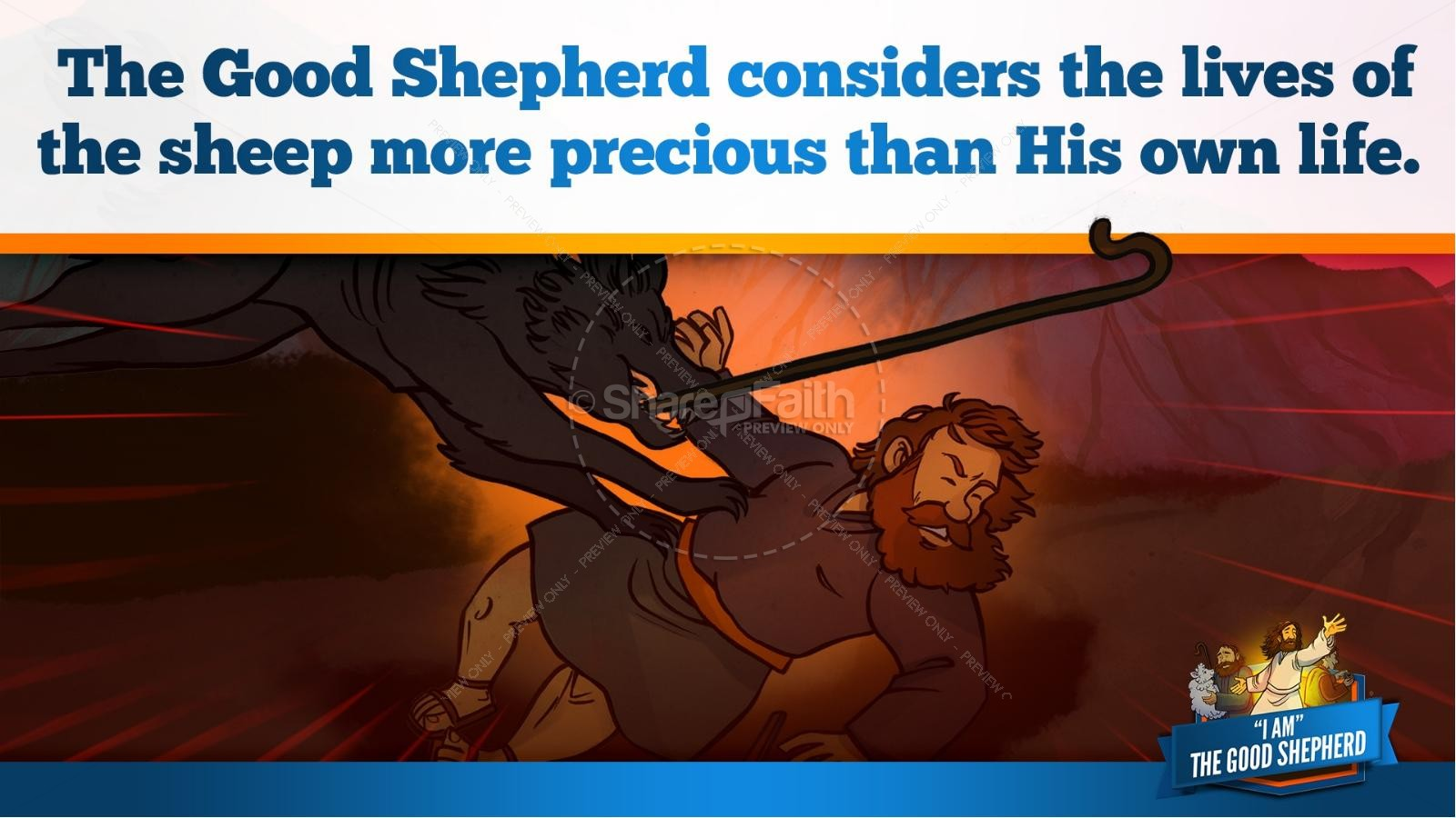John 10 The Good Shepherd Kids Bible Stories | slide 28