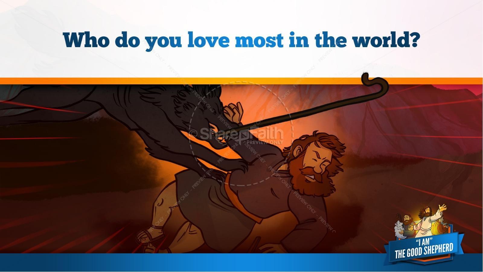 John 10 The Good Shepherd Kids Bible Stories | slide 29