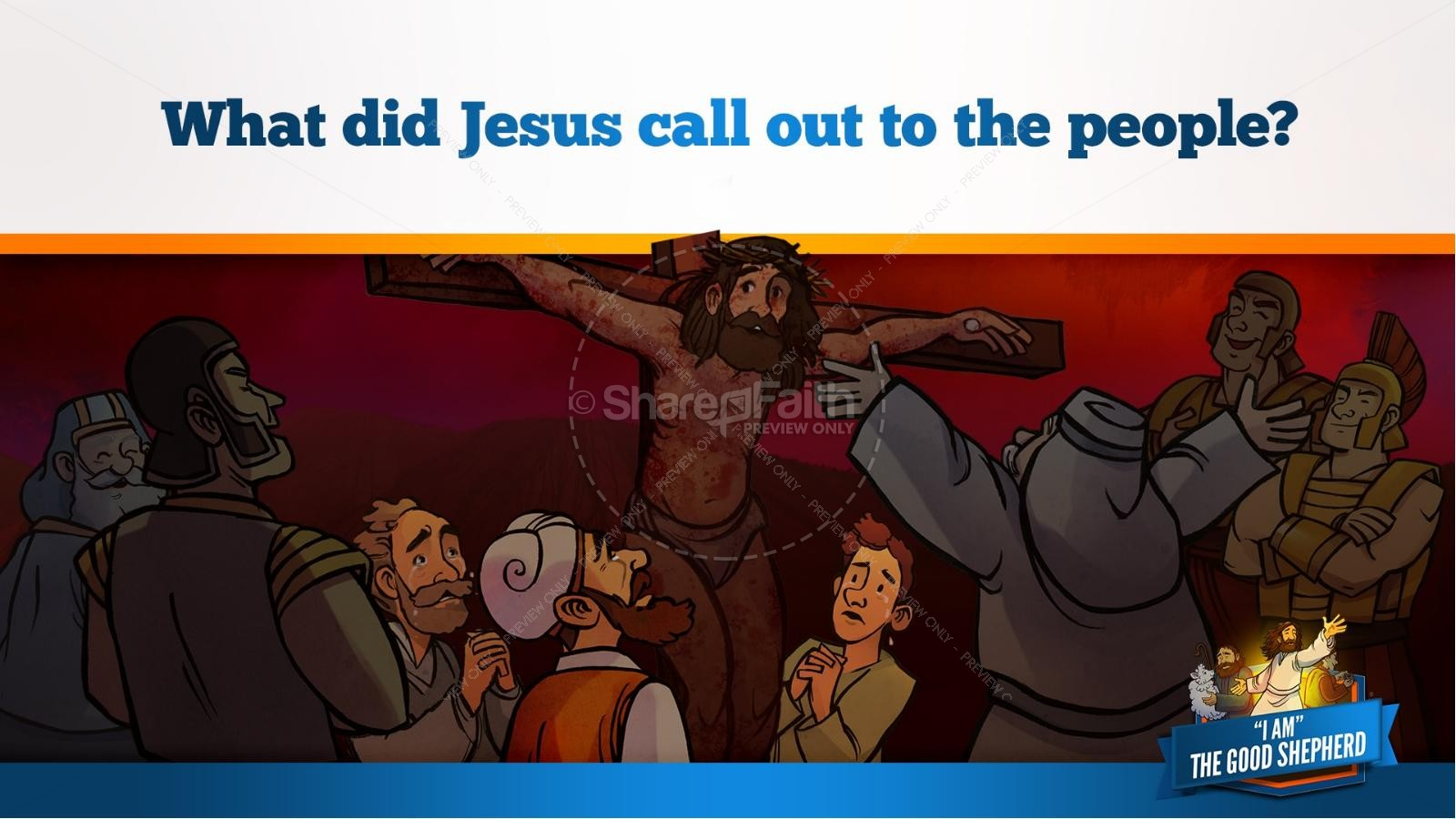 John 10 The Good Shepherd Kids Bible Stories | slide 31