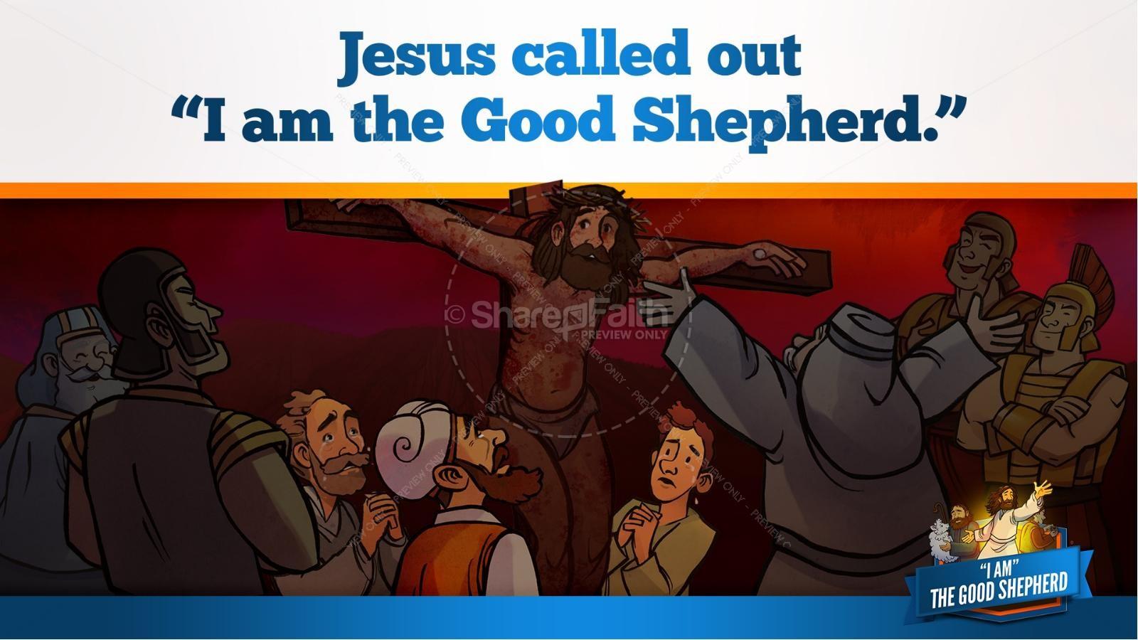John 10 The Good Shepherd Kids Bible Stories | slide 32
