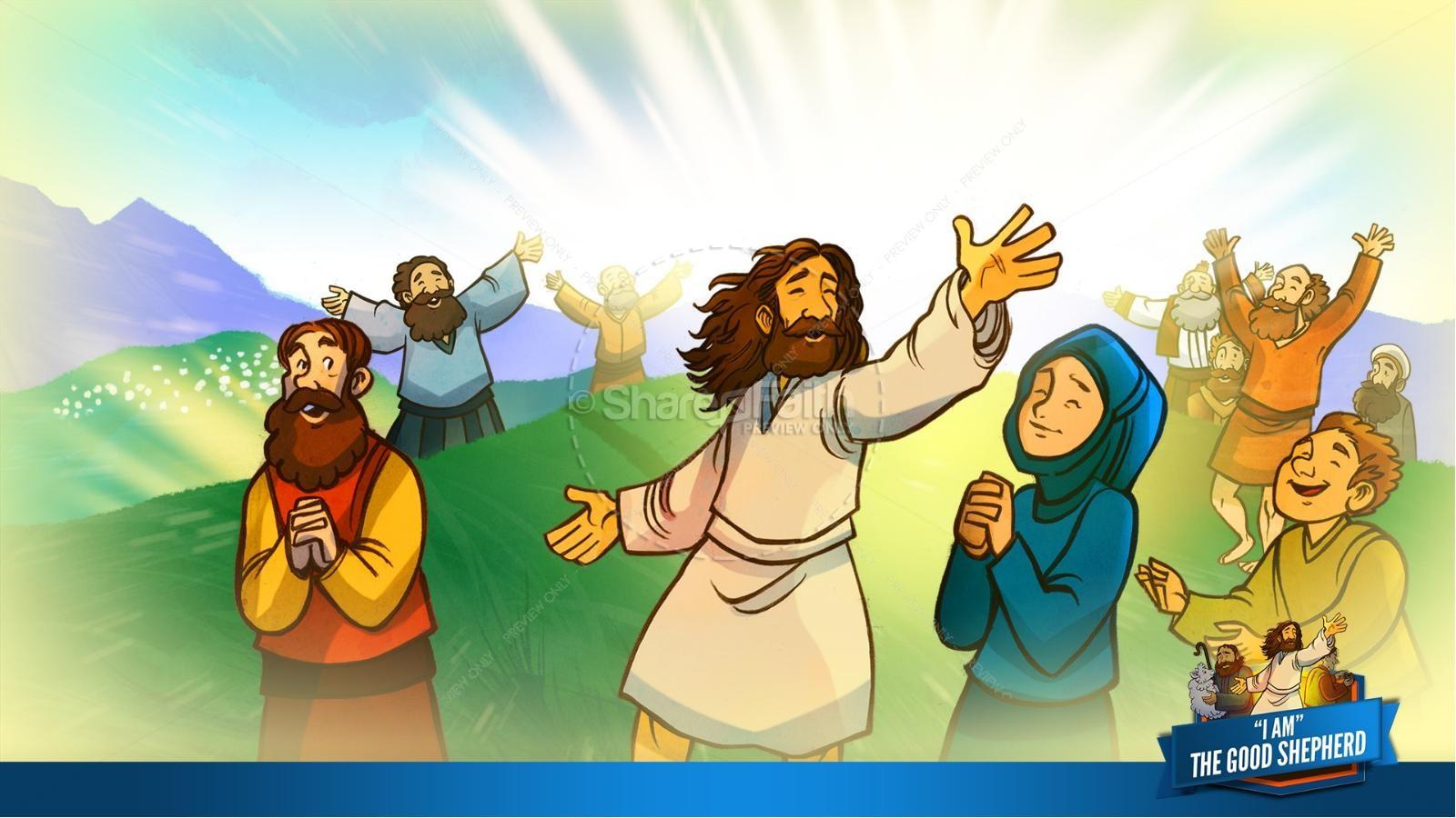 John 10 The Good Shepherd Kids Bible Stories | slide 34