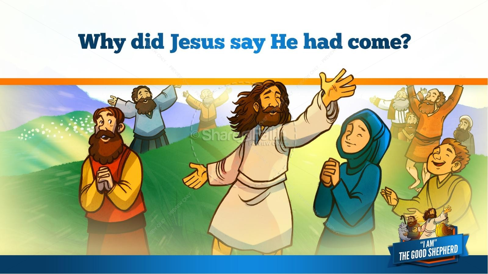 John 10 The Good Shepherd Kids Bible Stories | slide 35