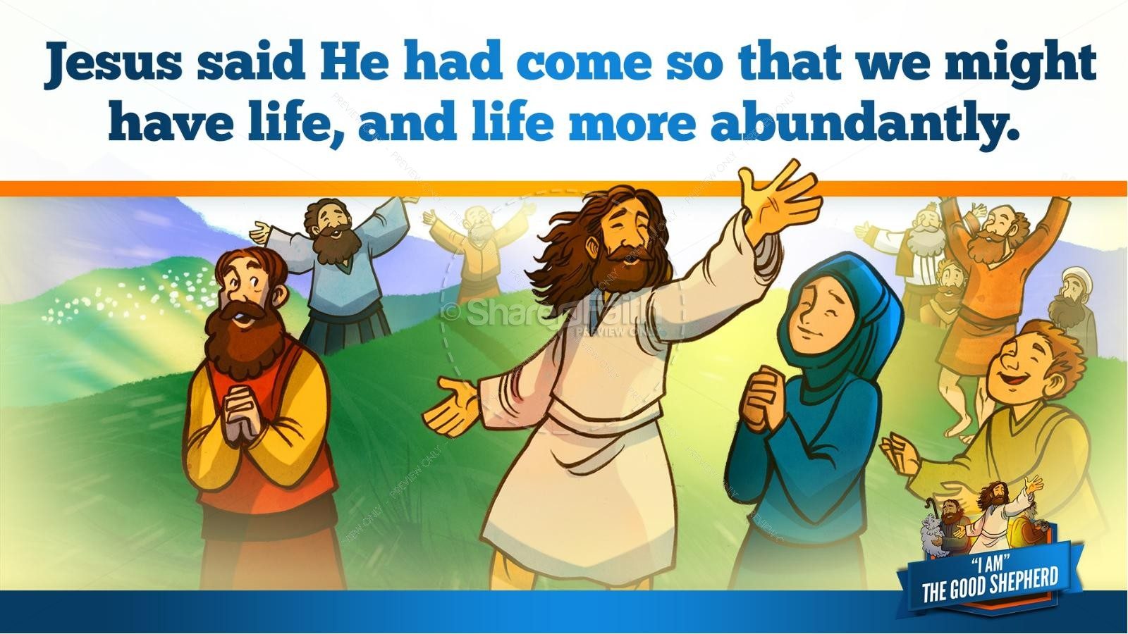 John 10 The Good Shepherd Kids Bible Stories | slide 36