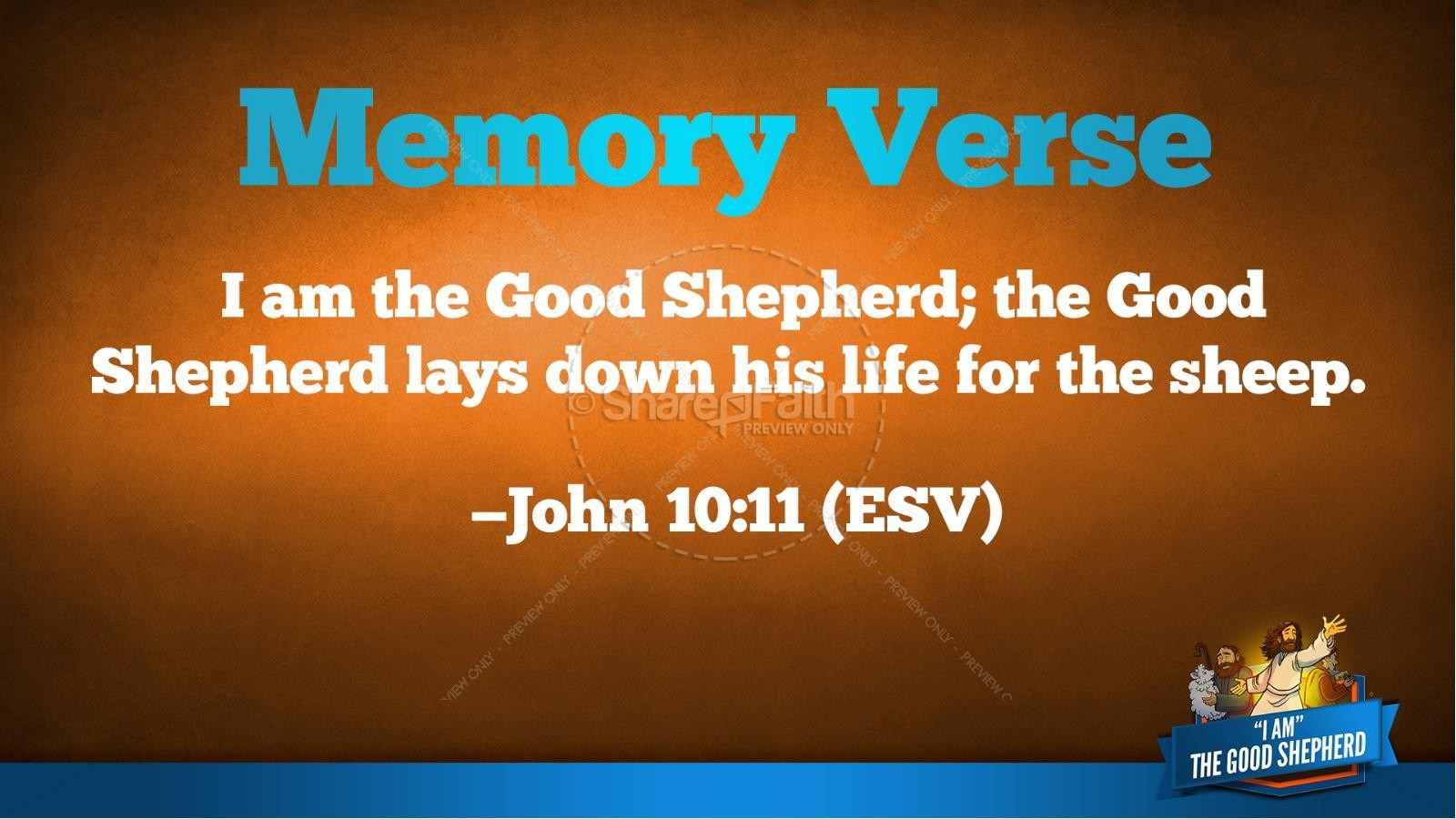 John 10 The Good Shepherd Kids Bible Stories | slide 39