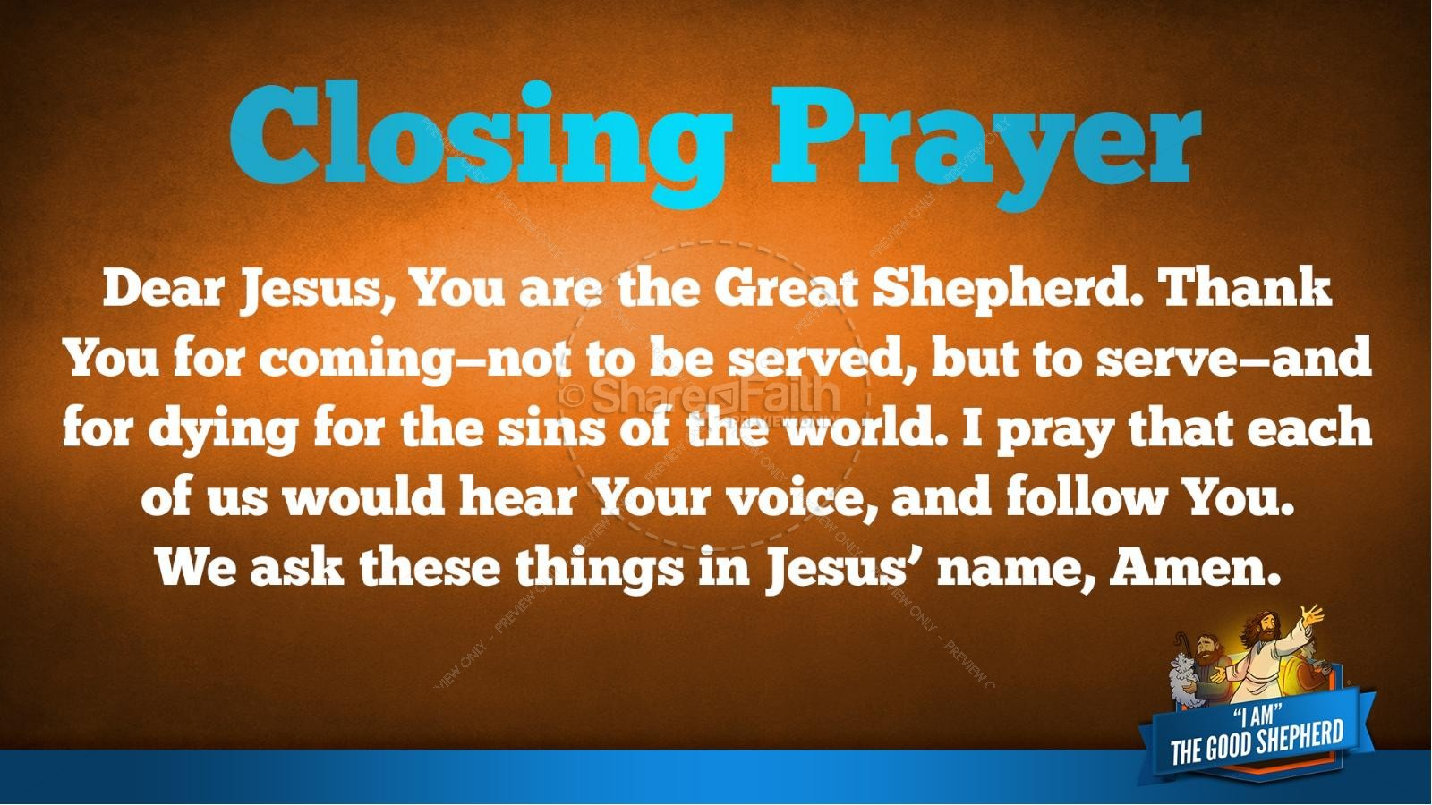 John 10 The Good Shepherd Kids Bible Stories | slide 40
