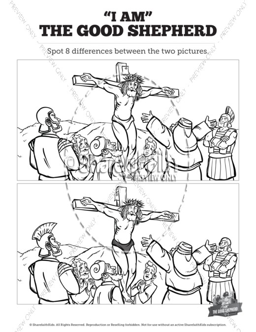 John 10 The Good Shepherd Kids Spot The Difference