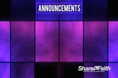 Neon Square Abstract Announcements Video Background