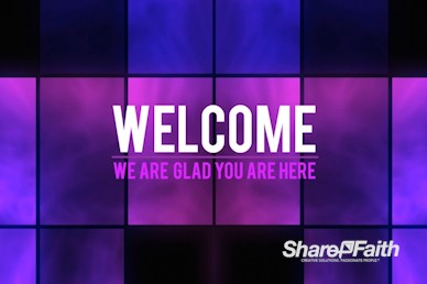 Neon Square Abstract Welcome Video Background