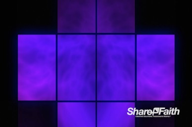 Neon Square Abstract Worship Video Background