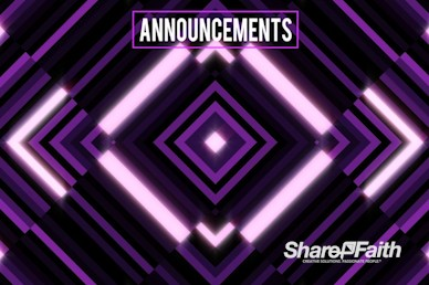 Purple Diamond Abstract Announcements Motion Graphic