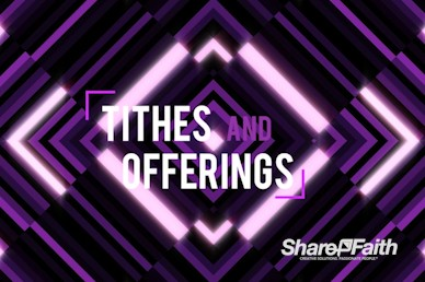 Purple Diamond Abstract Tithes and Offering Motion Graphic