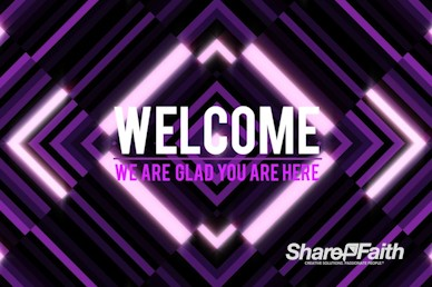 Purple Diamond Abstract Welcome Motion Graphic