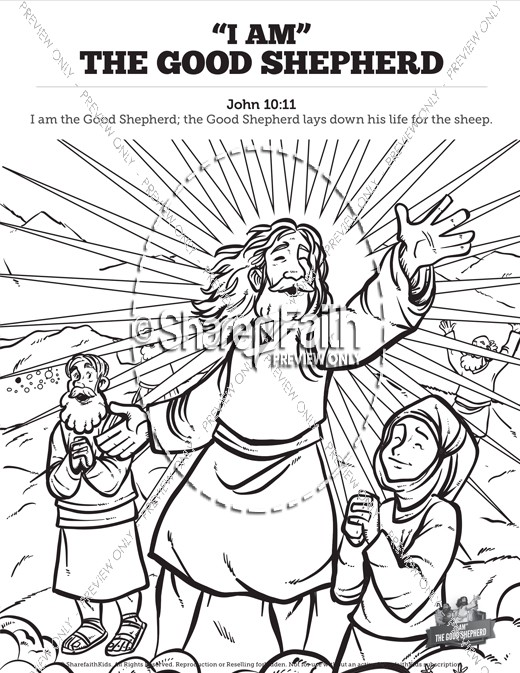John 10 the good shepherd sunday school coloring pages