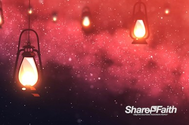 Lanterns At Night Worship Motion Background
