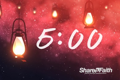 Lanterns At Night Church Countdown Timer