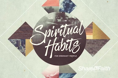 Spiritual Habits Title Church Motion Graphic