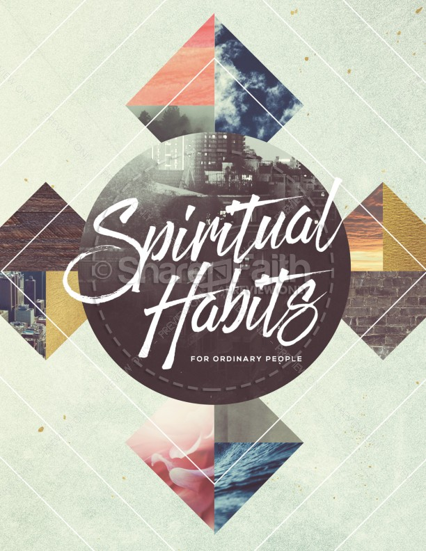 Spiritual Habits Church Flyer