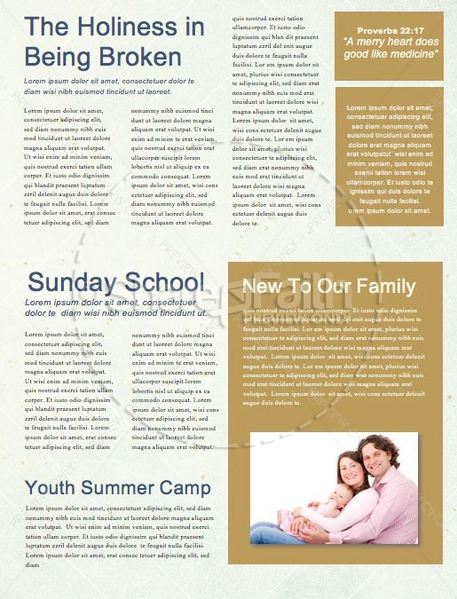 Spiritual Habits Church Newsletter Template | page 2