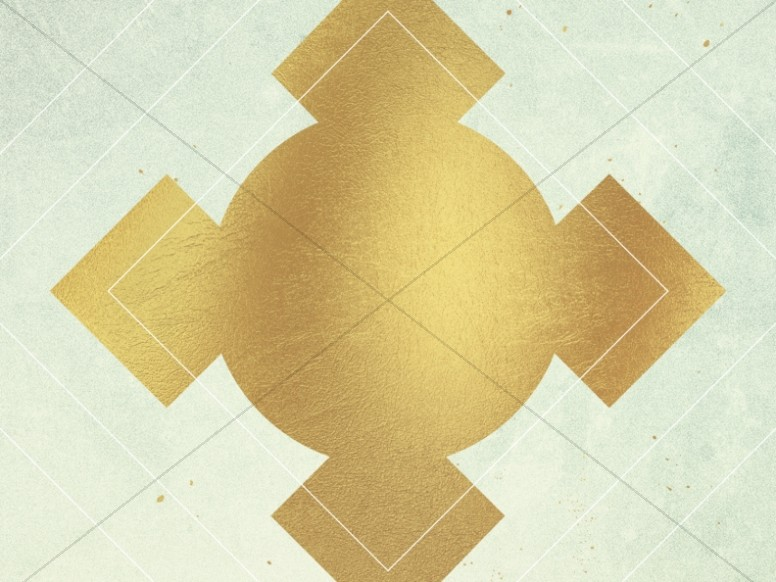 Gold Diamond Cross Worship Background