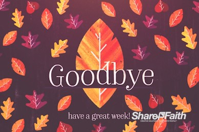 Thanksgiving Leaves Goodbye Motion Graphic