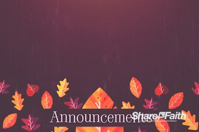 Thanksgiving Leaves Announcements Motion Graphic