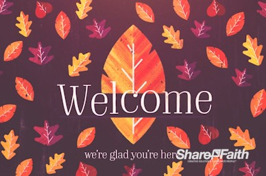 Thanksgiving Leaves Welcome Motion Graphic