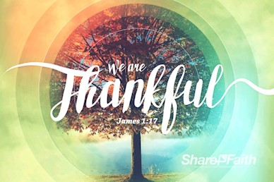 We Are Thankful Fall Title Motion Graphic