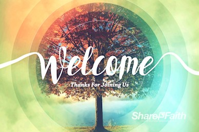 We Are Thankful Fall Welcome Motion Graphic
