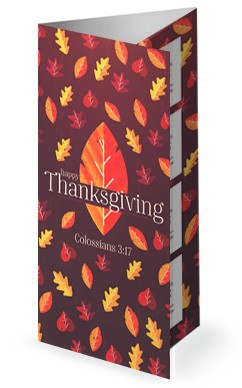 Thanksgiving Leaves Trifold Bulletin