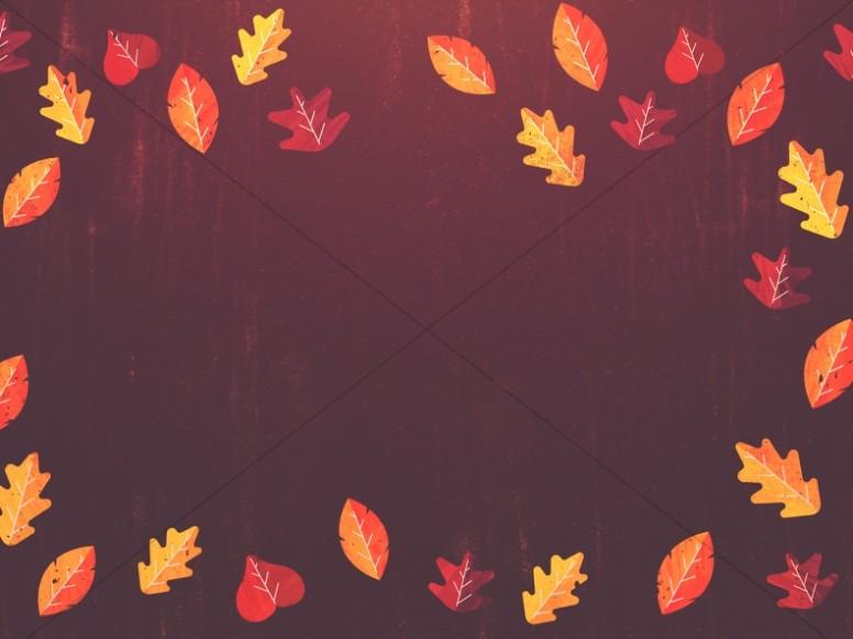 Thanksgiving Leaves Border Worship Background