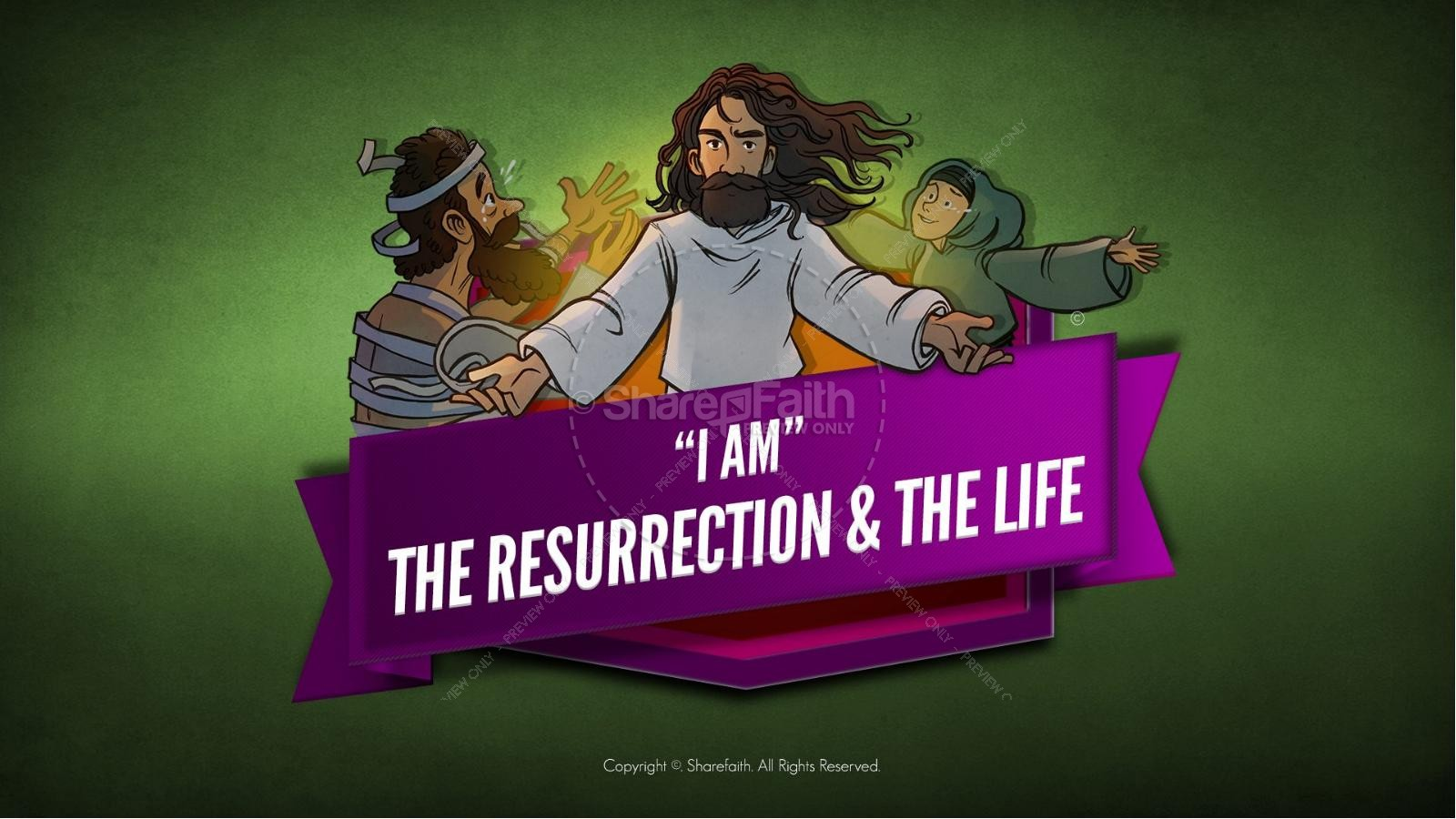 John 11 I am the Resurrection and the Life Kids Bible Story