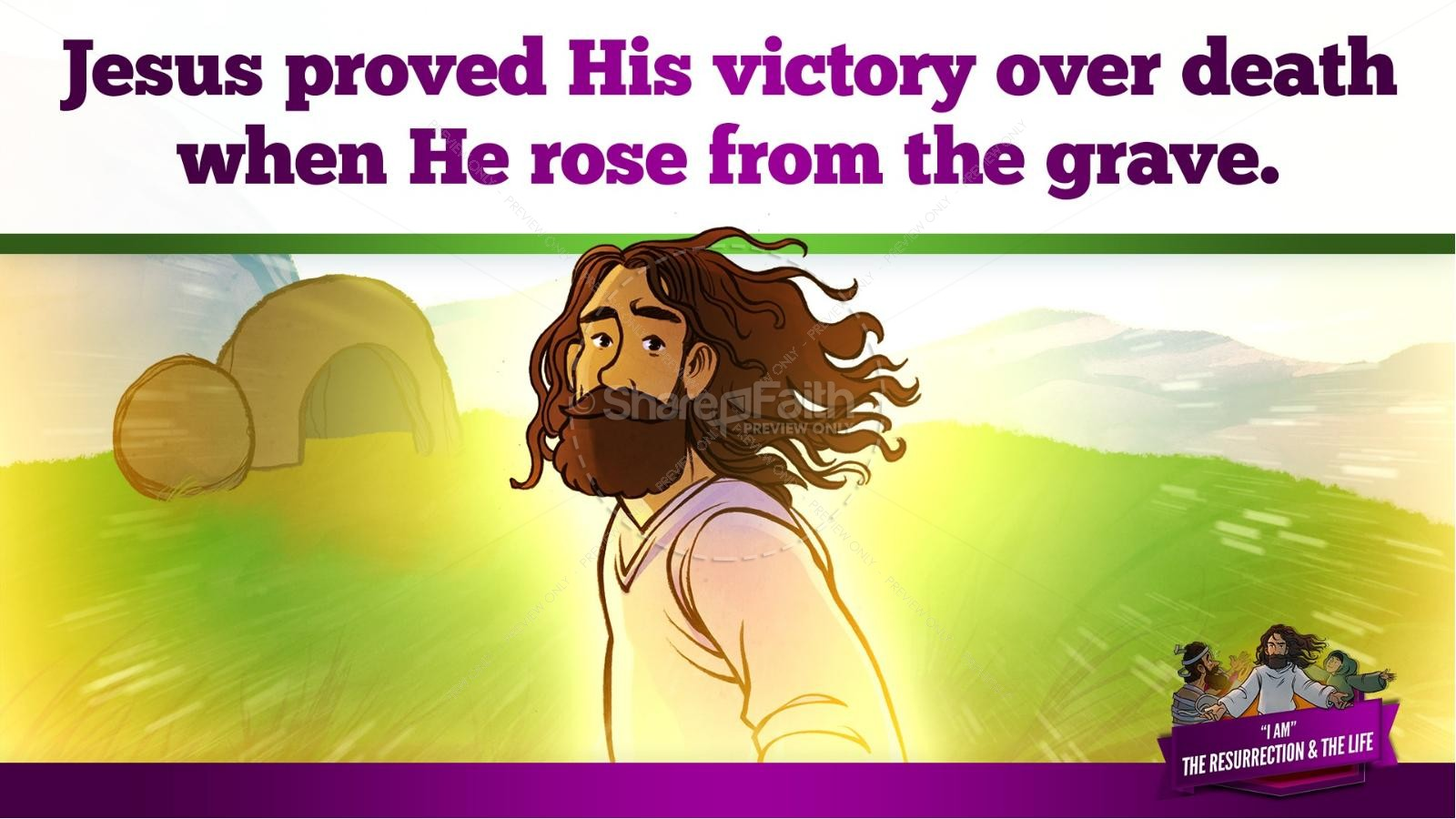 John 11 I am the Resurrection and the Life Kids Bible Story | slide 36