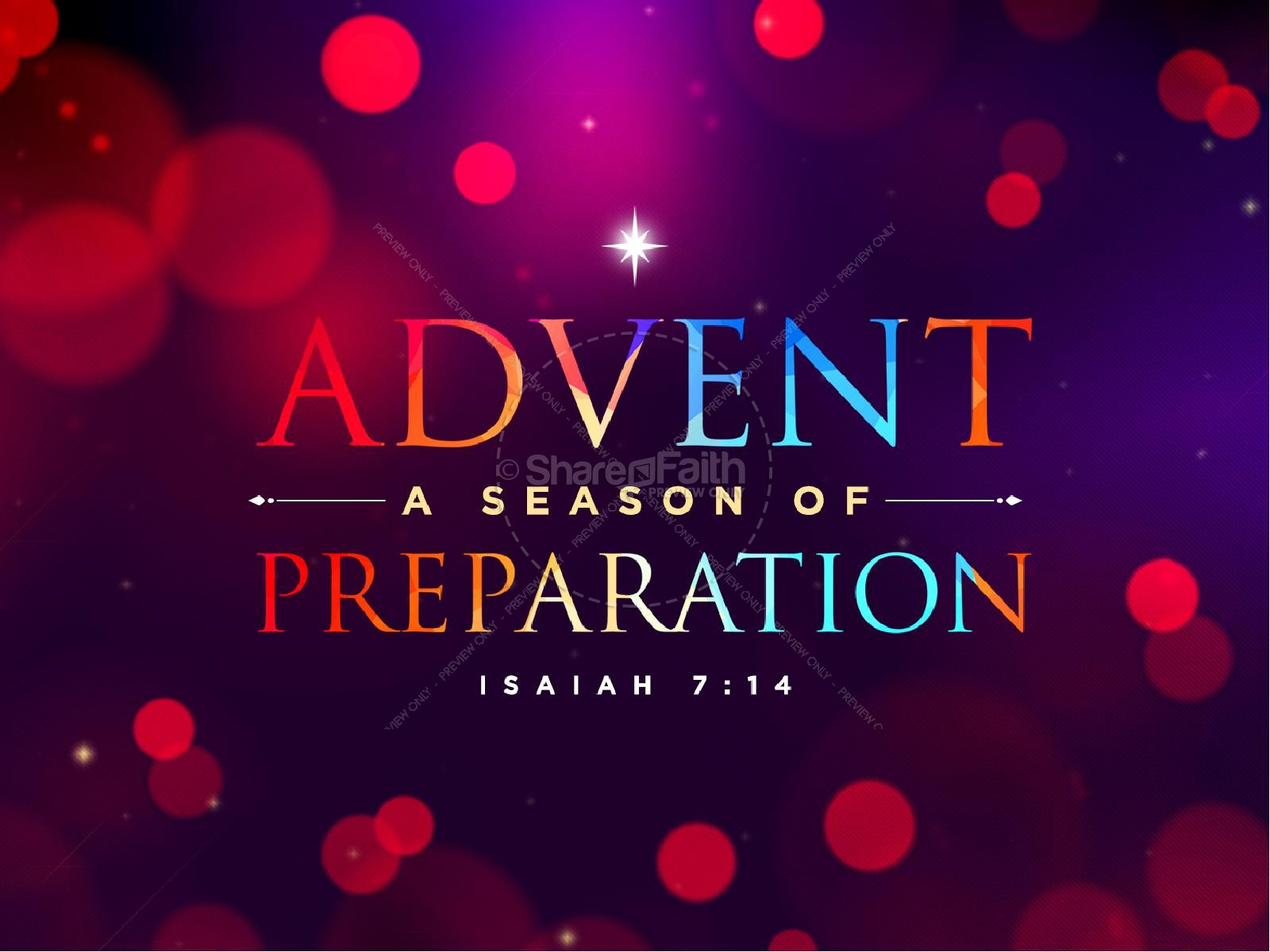 Advent A Season of Preparation PowerPoint