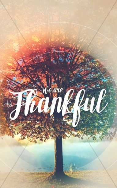 We Are Thankful Fall Bulletin