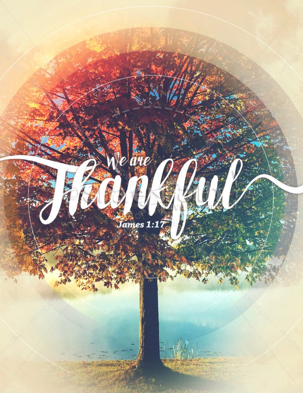 We Are Thankful Fall Flyer